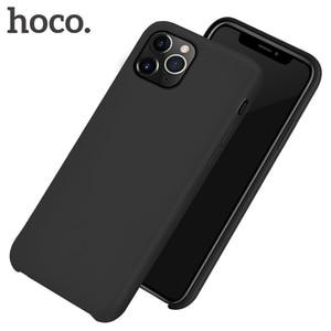 Image 1 - HOCO Real Capa Protetora de Silicone para o iphone 11 Proteção Do Telefone Móvel Caso de Volta de Silicone Macio Capa Para o iphone 11 Pro MAX