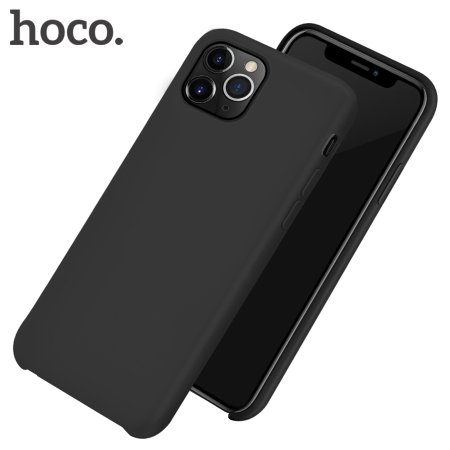 HOCO Real Silicone Protective Case for iPhone 11 Mobile Phone Back Case Soft Silicone Protection Cover For iPhone 11 Pro MAX