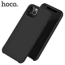 HOCO prawdziwe silikonowe etui ochronne dla iPhone 11 telefon komórkowy tylna przypadku miękkiego silikonu Pokrywa ochronna dla iPhone 11 Pro MAX