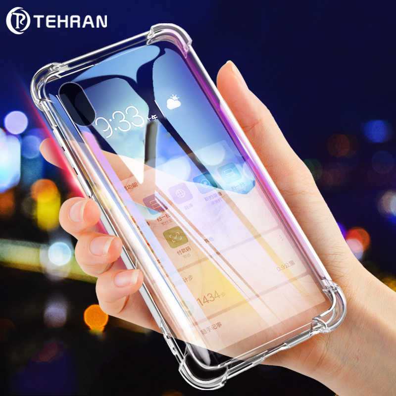 Clear Phone Case For iPhone 11 Pro Max 6 7 8 6s Plus 7Plus XS MAX X XR Silicon TPU Soft Shockproof Transparent Luxury Case P007