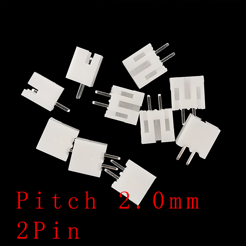 50PCS PH2.0 Pitch 2.0mm 2 Pin Plastic Shell Terminals Housing Male Plug Pin Header Connector for JST PH 2.0 2P Socket Connectors
