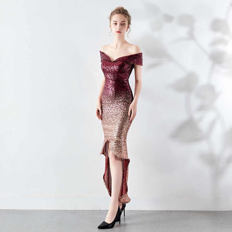 Высокая Низкая Коктейльные Вечерние Платье Элегантный Vestido de Fiesta градиент платье в деловом стиле для вечеринки платье для выпускного вечера YNY-16173