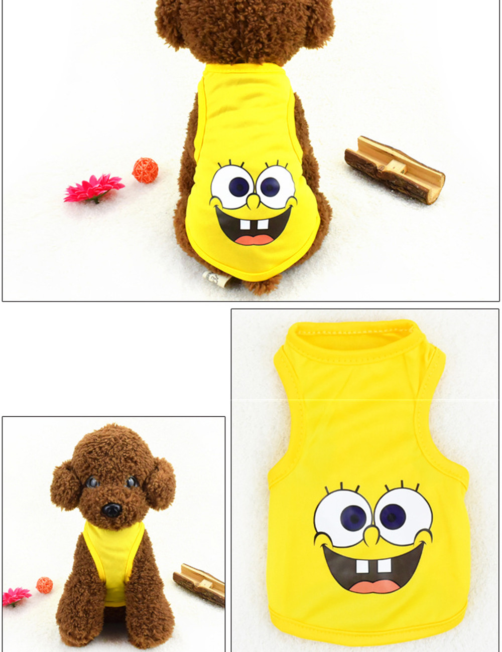 Pet Cat Clothes for Cats Summer Vest T Shirt Dog Cat Clothes Costume for Small Dogs Cartoon Vest for Puppy 35 (27)