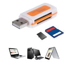 Mini usb2.0 4 slots de cartão leitor de cartão inteligente sd/mmc tf ms m2 multi cardreader memória para computador portátil
