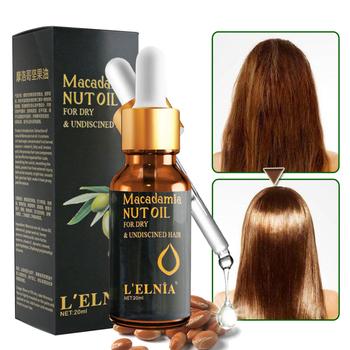 Olej z orzechów makadamia utrata włosów produkt autentyczny 100 Essence leczenie dla mężczyzn i kobiet suche i uszkodzone włosy odżywianie pielęgnacja włosów tanie i dobre opinie CN (pochodzenie) Leczenie włosów i skóry głowy 0 7 fl oz 20ml Macadamia Nut Oil Hair Essence 1 bottle Morocco nut oil bacas oil almond oil grape seed oil honey essence