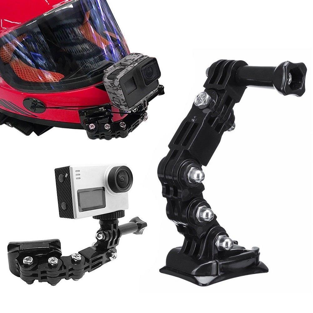 Motorcycle Lightweight Camera Holder Set Adjustable Easy Install Helmet Chin Mount Professional Lengthened Useful For GoPro