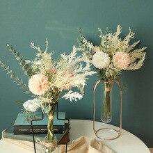 Neue Künstliche Blume Löwenzahn Eukalyptus Hybrid Bouquet Hochzeit Grüne Pflanze Dekoration Home Dekoration Gefälschte Blume