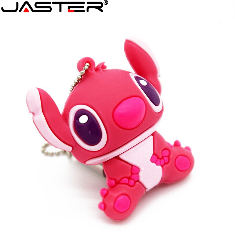 JASTER Cartoon Stitch USB Flash Drive Pink USB 2.0 Blue External Storage 4GB 8GB 16GB 32GB 64GB USB Stick U Disk Creative Gifts