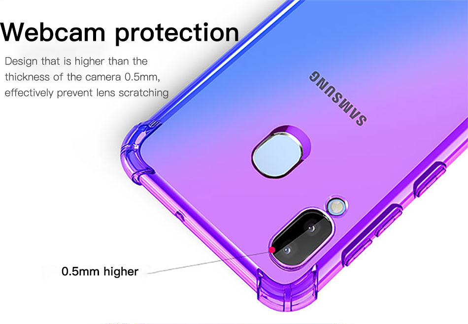 !ACCEZZ Colorful For Samsung A40 A50 Soft Phone Case Protection Back Cover For Galaxy A50 A40 TPU Thin Phone Shell Fitted Case (4)