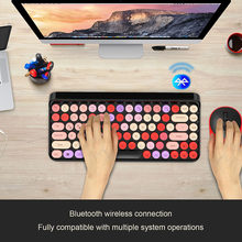 Russian Wireless Keyboard Mouse Set Ergonomic Mouse PC Mause Silent Button Keyboard And Mouse Combo 2.4G For Laptop PC 2.4G DPI(China)