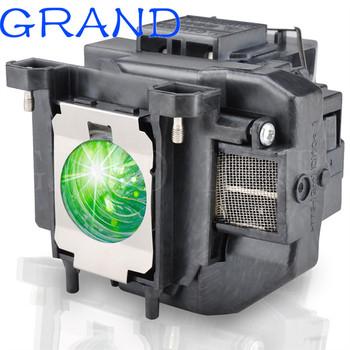 Do projektora Epson lampa projektora dla ELPLP67 V13H010L67 EB-X02 EB-S02 EB-W02 EB-W12 EB-X12 EB-S12 S12 EB-X11 EB-X14 EB-W16 eb-s11 H432B tanie i dobre opinie HAPPY BATE 180 days Replacement Projector Lamp With Housing 200w