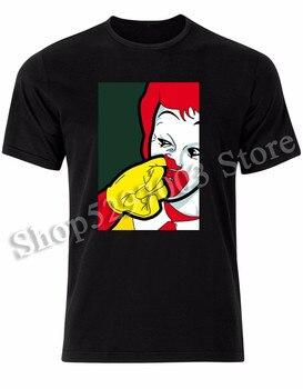 Donald Mcdonald nariz recoger payaso parodia divertido arte Pop para hombre Camiseta Tee superior Al73 de talla grande ropa camiseta