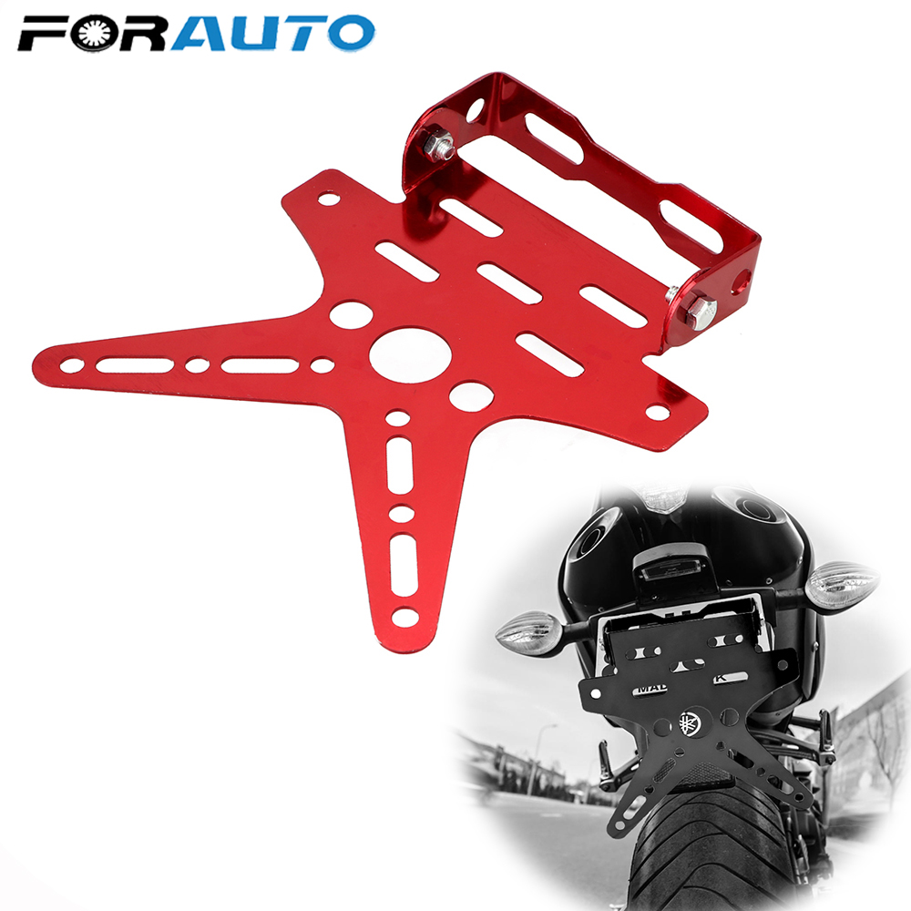 FORAUTO License Plate Decoration Aluminium Alloy Swallow Tail Colorful Universal Motorcycle License Plate Bracket