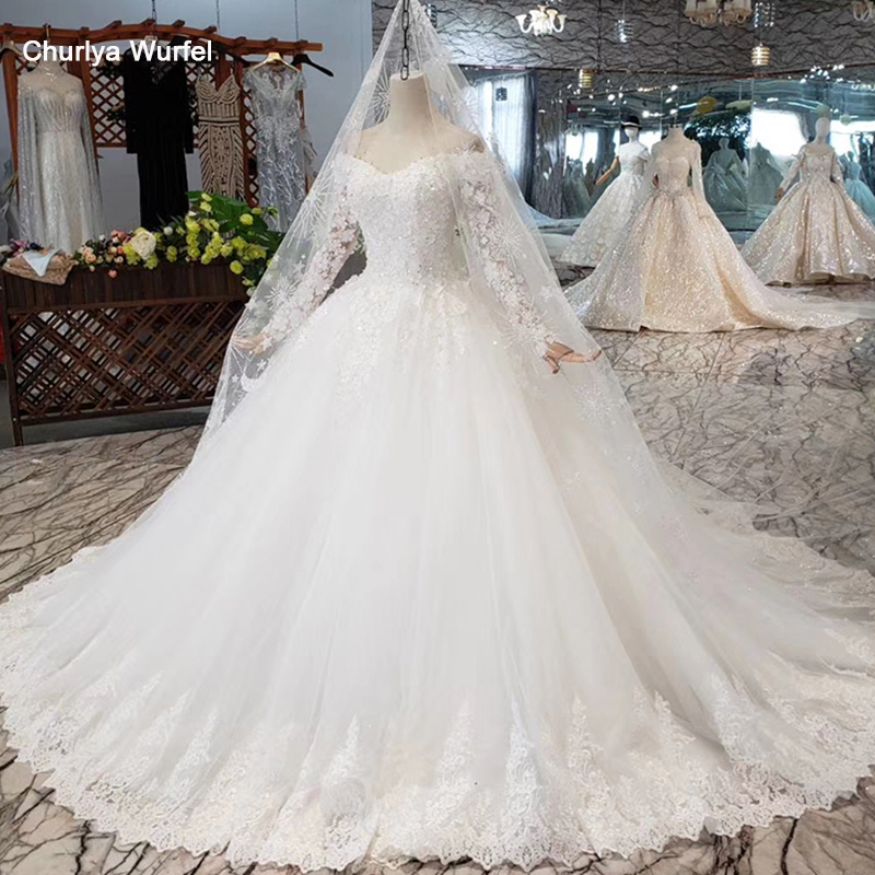 HTL321B Like White Wedding Dress With Wedding Veil Ball Gown Princess Wedding Gown 3.28 Anniversary Discount Hochzeitskleid 2019