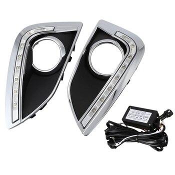 LED DRL Daytime Running Light Fog Lamp 12V Car Running Lights for Hyundai IX35 Ix 35 2010-2013