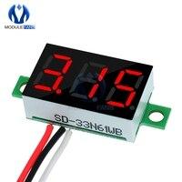 0,36 pulgadas Mini Digital voltímetro de pantalla LED rojo Panel medidor de voltaje de DC 4,7 ~ 32V 3 dígitos pantalla ajuste voltímetro