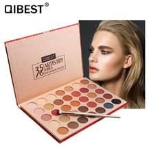 Qibest 35 цветов матовые тени для век Палитра длительное Мерцание