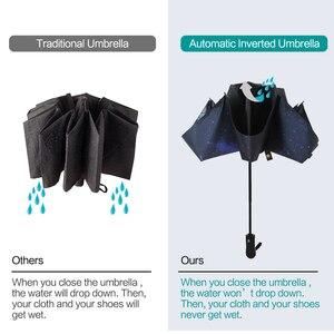 Image 5 - Inverted Umbrella Windproof Compact Umbrella Inside Out Reverse Umbrella Automatic Open and Close Rain Umbrella for Woman & Man