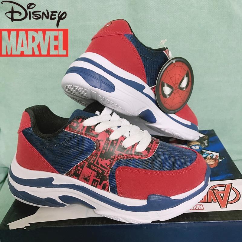 Original Marvel Spider-Man Captain America Super Light shoes Children's Sneakers 3-12 Years Old Boys Non-slip Running Shoes
