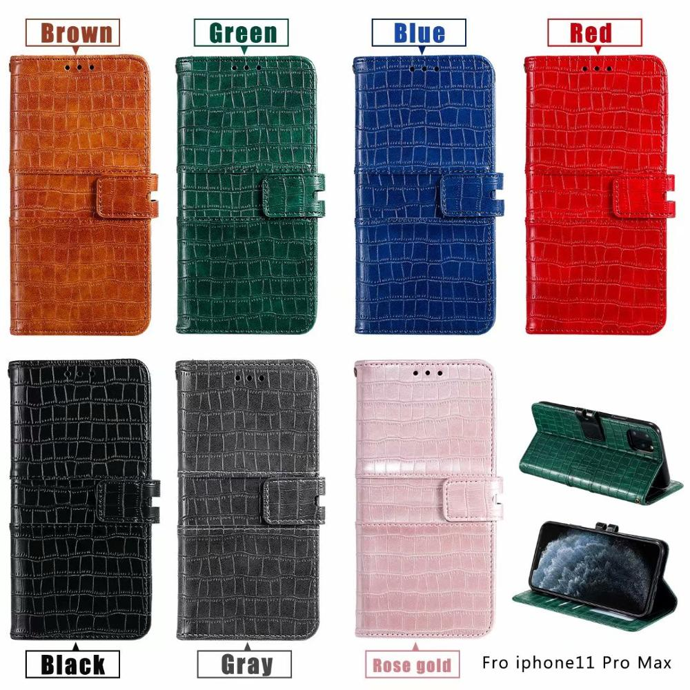Regular Crocodile Pattern Wallet <font><b>Case</b></font> For <font><b>Samsung</b></font> Galaxy Note 10 S10 S8 S9 J4 <font><b>J6</b></font> + A8 <font><b>Leather</b></font> Flip Stand Phone <font><b>Case</b></font> With Strap image