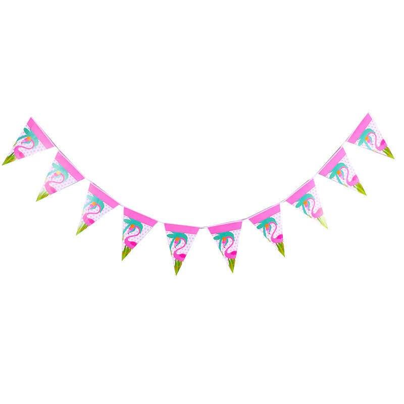 Hawaje Flamingo dekoracja na przyjęcie z okazji urodzin Banner wisząca girlanda na przyjęcie hawajskie tropikalna plaża zaopatrzenie firm