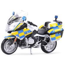 Maisto 1:18 R1200 RT полицейский спортивный Литой Сплав модель мотоцикла Игрушка