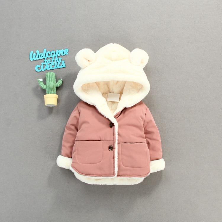 Image 2 - OLEKID Autumn Winter Baby Fleece Jacket Cartoon Hooded Plus Velvet Infant Boys Coat Newborn Baby Girls Outerwear Toddler Parka-in Jackets & Coats from Mother & Kids