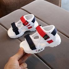 2020 summer new children's sandals baby toddler shoes girls beach shoes soft bottom non-slip boys sports sandals leisure 21-30