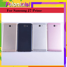 10pcs/lot For Samsung Galaxy J7 Prime G610F G610 On7 2016 Housing Battery Cover Back Cover Case Rear Door Chassis Shell 10pcs lot for samsung galaxy j5 prime on5 2016 g570 g570k housing battery cover back cover case rear door chassis shell