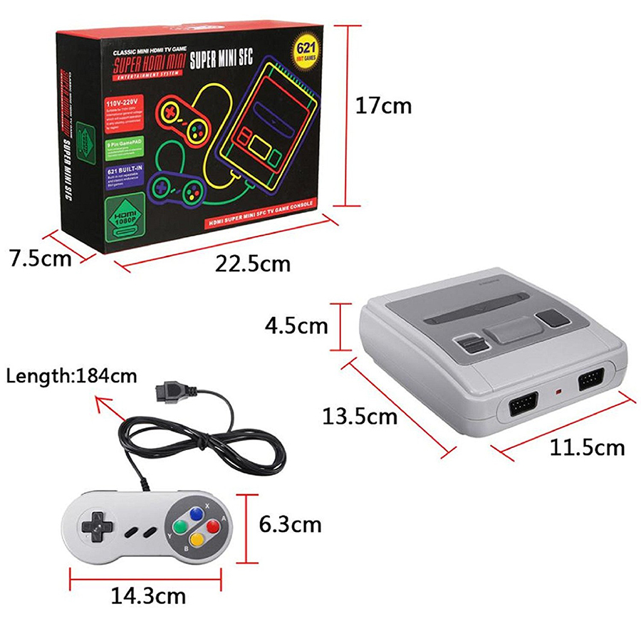 cheapest 2019 Super HD HDMI Output SNES Retro Classic Handheld Video Game Player TV Mini Game Console Built-in 21 Games with Dual Gamepad