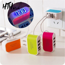 charger for phone 3-Port Micro USB charger Mobile Phone Charger Travel Charging Charger With Indicator for iPad iPhone 7 Samsung quelima lz 529 usb 3 0 3 port phone charger