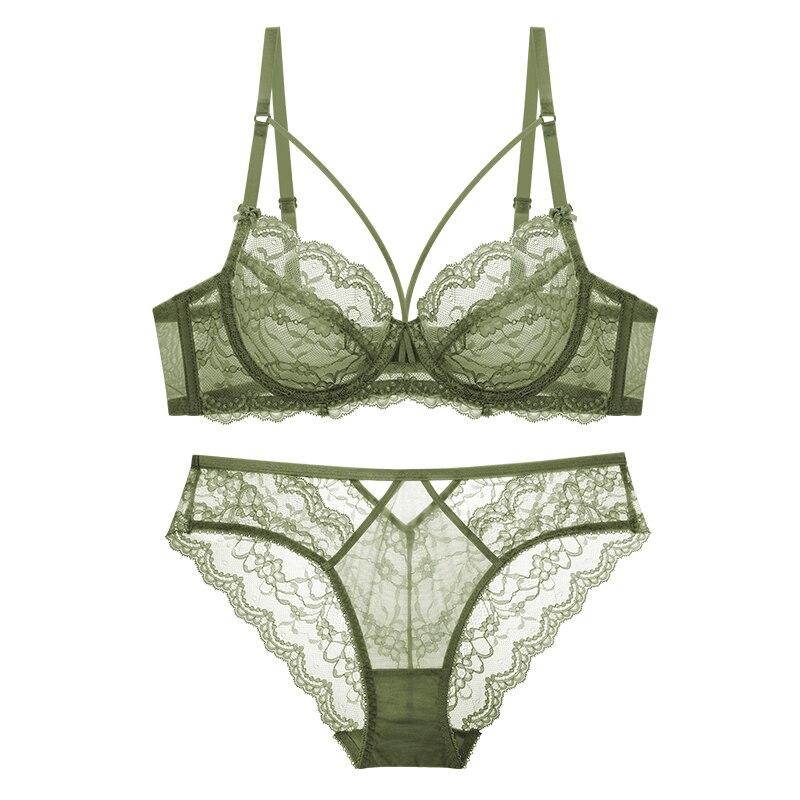 TERMEZY Women Underwear Lingerie Bandage Brassiere Lace Transparent Sexy Large-Size