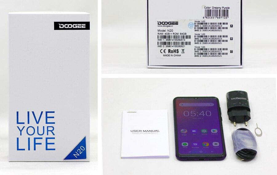 H55aa43f12f7445068f45aa7e46bfc6fd3 DOOGEE N20 New 2019 Smartphone 6.3inch FHD+ Display 4350mAh 4GB+64GB Octa Core 10w charge Fingerprint 16MP Triple Back Camera