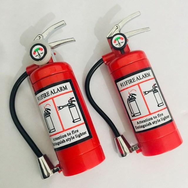 Купить fire extinguisher flashlight lighter metal torch free fire butane картинки цена
