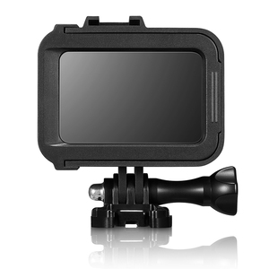 Image 5 - البلاستيك الإطار القياسي ل GoPro بطل 8 الإسكان قذيفة الفيديو الضوئي واقية ميكروفون جبل حامل عمل ملحقات الكاميرا