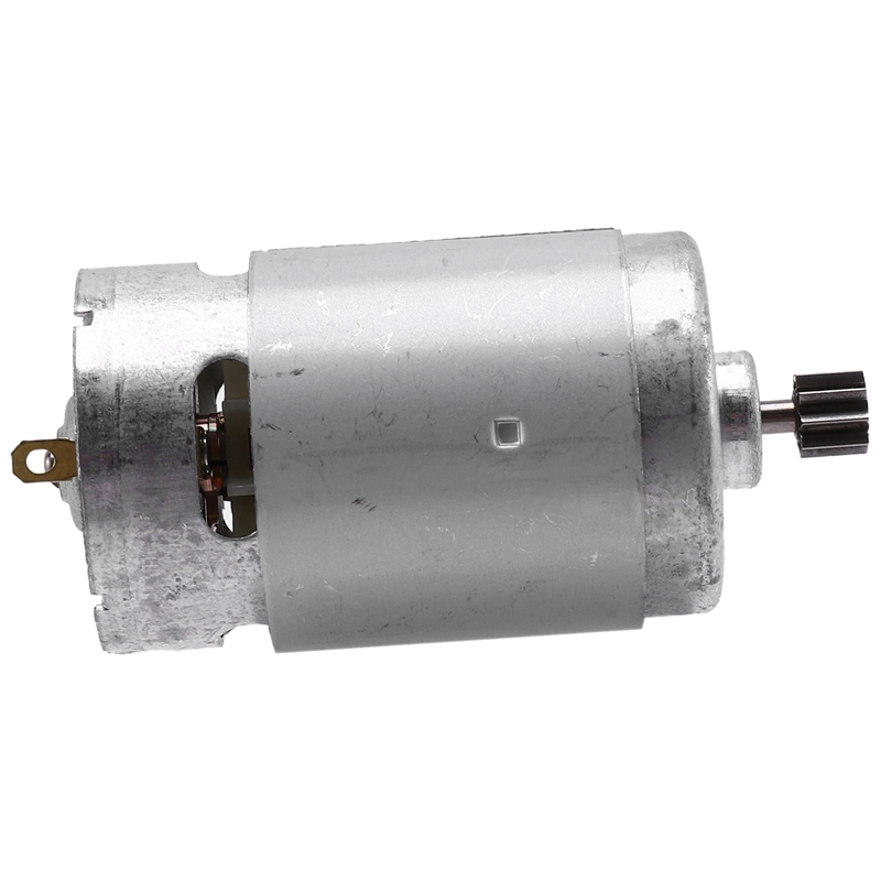 RS550 21V DC Motor with Single Speed 9 Teeth and High Torque Gear Box for Electric Drill / Screwdriver image
