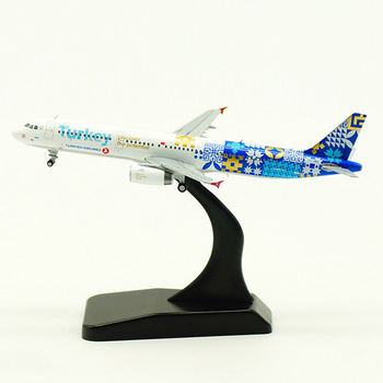 11CM 1/400 Airbus A321 Plane model Turkish airlines Diecast Static alloy Airplane landing gear Toys aircraft collectible display