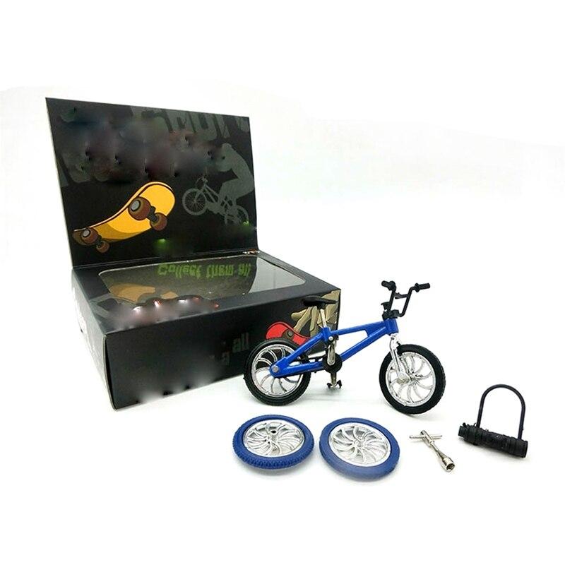 Mini Finger BMX Bicycle Flick Trix Finger Bikes Toys Novelty Gag Kids Gifts X LF