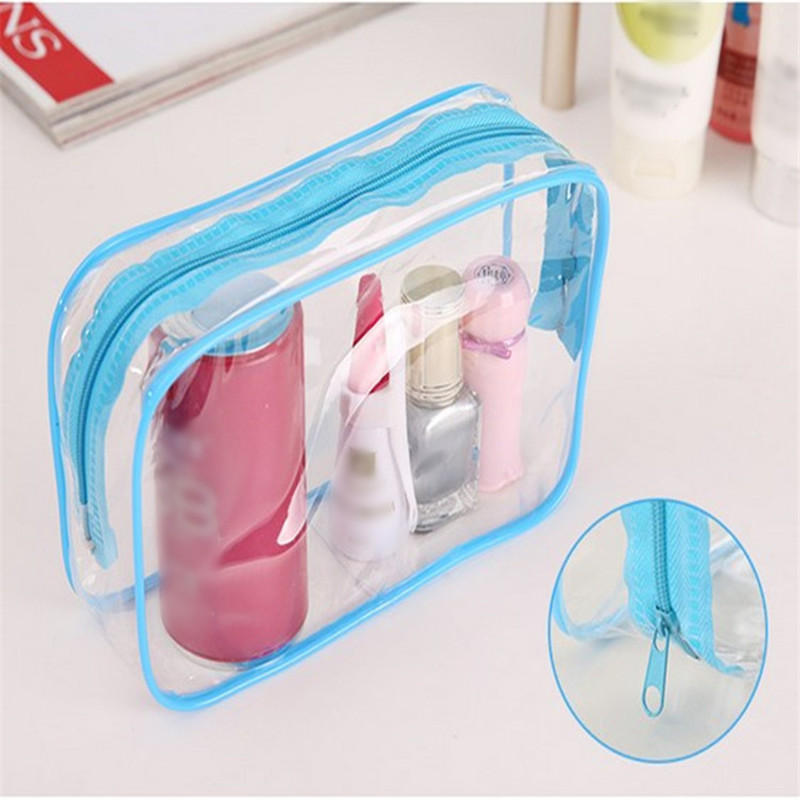 Vogvigo Travel PVC Cosmetic Bags Women Men Transparent Zipper Makeup Bags Organizer Beauty Make Up Bath Wash Handbag Case Bag