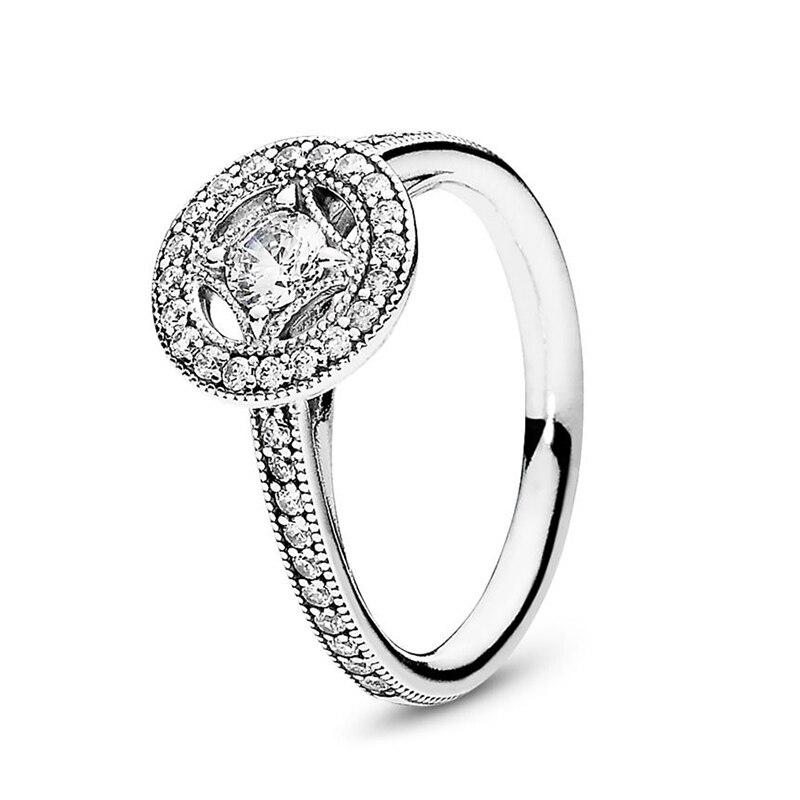 Кольцо на палец в форме сердечко серебряного цвета для женщин, европейская оригинальная Корона, изящные кольца на палец, свадебные украшения, 50 стилей, Прямая поставка - Цвет основного камня: Rings 048