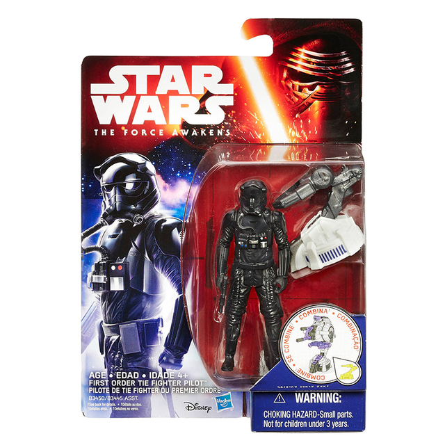 Hasbro 3.75inch Star War 1/18 Action Figure The Force Awakens Space Mission First Order TIE Fighter Pilot Model For Gift Free