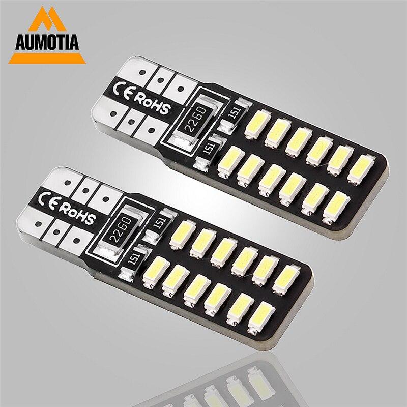 Автомобильные светодиодные лампы T10 194 168 W5W 3014 SMD 24 LED фонари для парковки, боковая лампа постоянного тока 12 В