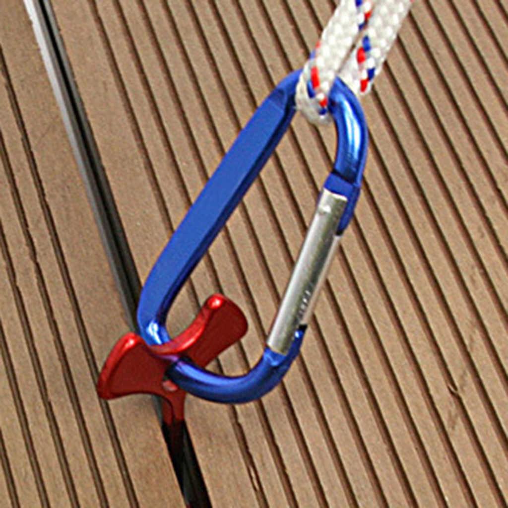 Hebilla de clavija de anclaje con tapón de cuerda para tienda de uñas de pez de Camping de acero inoxidable