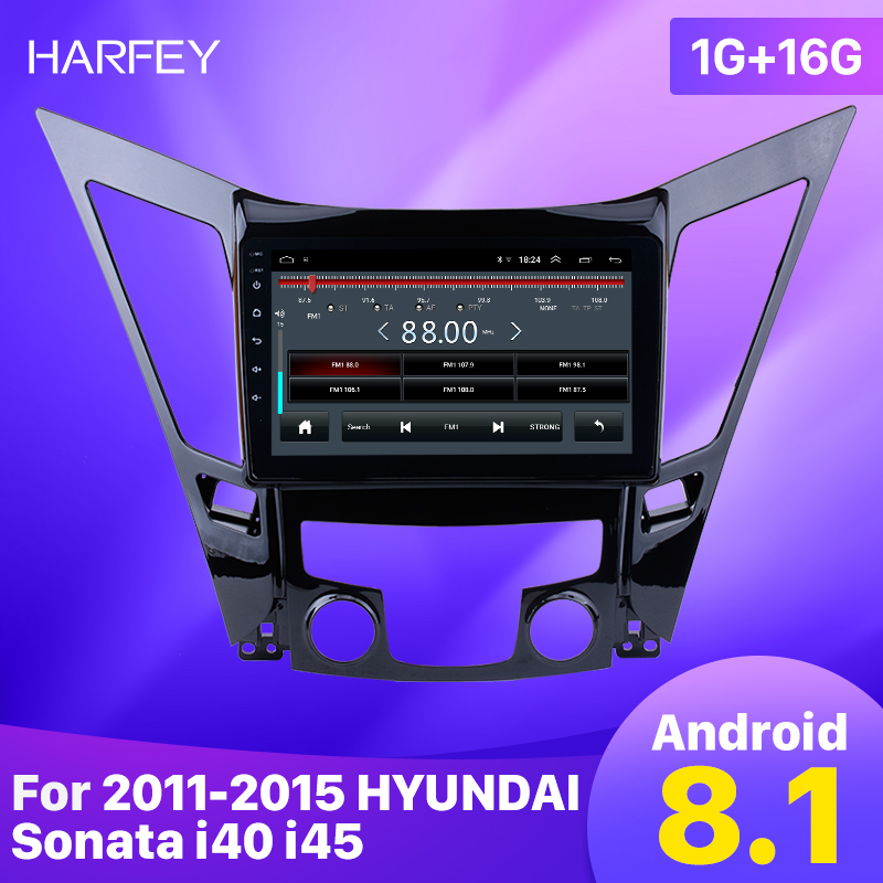 """Harfey 9"""" GPS Navigation system For 2011-2015 HYUNDAI Sonata i40 i45 Android 8.1 Car Stereo Multimedia Player with WIFI USB Aux"""