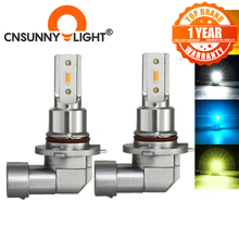 CNSUNNYLIGHT H11 H8 LED Car Fog Light Bulbs H9 H16 9005 9006 2400Lm 6000K White 1900K Yellow 8000K Blue Auto DRL Foglamp 2Pcs