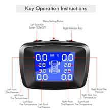 Автомобильный TPMS беспроводной монитор давления в шинах ЖК-дисплей с внешним датчиком