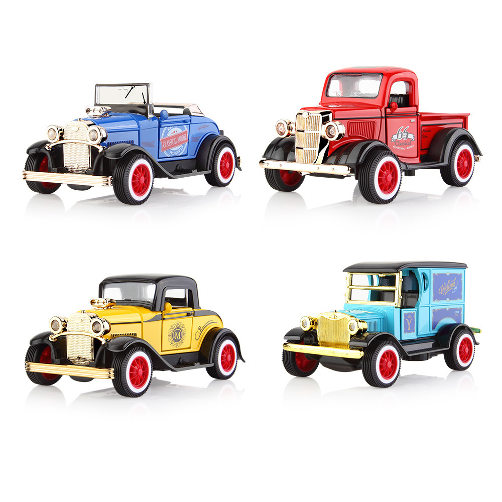 1:36 Alloy Pull Back Car Toy Diecast Model Toy Sound Light Brinquedos Car Vehicle Toys For Boys Children Gift