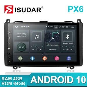 Image 2 - Isudar PX6 1 Din Android 10 Auto Radio For Mercedes/Benz/Sprinter/Viano/Vito/B class/B200/B180 Car Multimedia DVD Player GPS FM