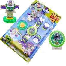 Buzz Lightyear блочные часы, игрушки для детей, забавные вращающиеся строительные блоки, электрическая фигурка, игрушка для мальчика, рождественские подарки