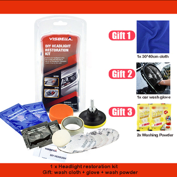 Car Headlight Restoration Polishing Kits Multipurpose Headlamp Lens Repair for Auto Motorcycle Improving Visibility And Security 8